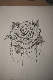 best 25 geometric rose tattoo ideas on pinterest meaning of