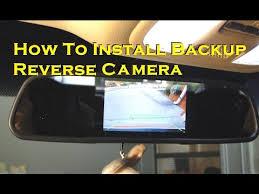 install rear view backup camera on honda odyssey youtube