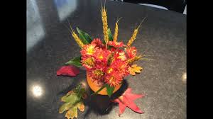 make easy thanksgiving flower centerpieces youtube