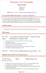 Sample Comprehensive Resume by Plumber Cv Template Tips And Download U2013 Cv Plaza