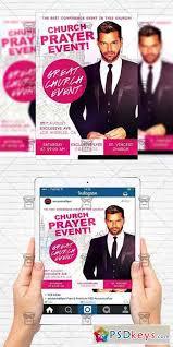 church praye event flyer template instagram size flyer free