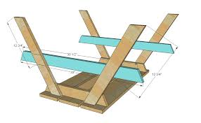 Wood Picnic Table Plans Free by Ana White Preschool Picnic Table Diy Projects