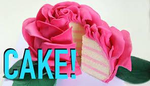 beutifull giant rose flower cake youtube