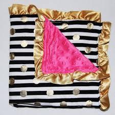 infantile u2014 gold dot glamour minky baby blanket black u0026 white
