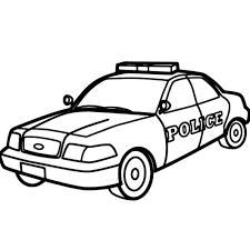 Coloriage Voiture de Police en Ligne Gratuit à imprimer