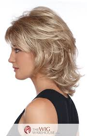 layered flip haircut offered in a number of natural toned colors the angela wig is a