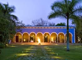 fachada principal de la hacienda santa rosa de lima maxcanú