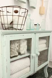 Shabby Chic Bathroom Accessories Sets Shabby Chic Bathroom Decor With Old Cabinet Storage Design With