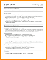 serving resume exles resume for restaurant server aiditan me