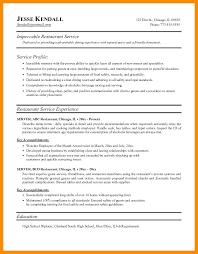restaurant resume template resume for restaurant server aiditan me