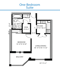 one bedroom floor plan floor plan of the one bedroom suite quinte living centre