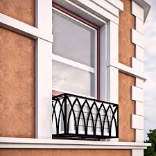 arch iron air conditioning cover window guard balcony store