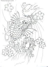 koi fish outline designs koi fish 04 koi