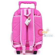 sanrio kitty large rolling backpack roller bag pink