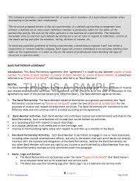licensing agreement template free band agreement template