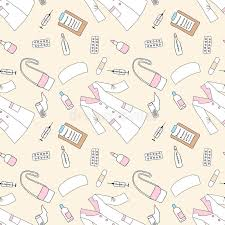 seamless pattern with medical things stock vector image 71465432