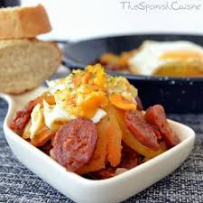spanish eggs with chorizo recipe spanish food recipes