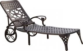 Reclining Chaise Lounge Chair Home Styles Biscayne Outdoor Chaise Lounge Chair With Wheels