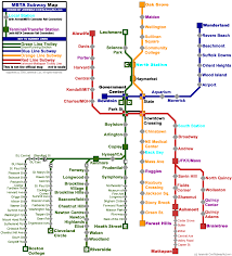 Boston College Map A Unique Mbta Map Archboston Org