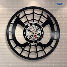 online get cheap spiderman live aliexpress com alibaba group alarm clock spiderman decor vinyl record clock interior wall art handmade home gift wall clock reloj