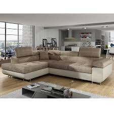 couleur canapé canapé meridienne convertible marron en tissu sofamobili