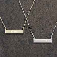 personalized name plate necklaces custom nameplate necklaces for