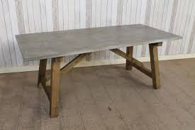 zinc top round dining table the most bespoke distressed zinc top kitchen or dining table in zinc