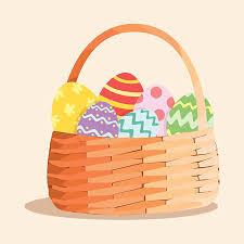 easter egg basket royalty free easter egg basket clip vector images