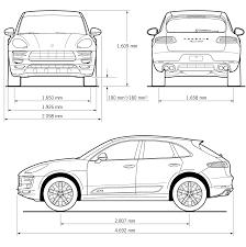 Porsche Macan X6 - porsche macan blueprint industrial design pinterest