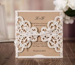 Engagement Invitation Cards Aliexpress Com Buy Rustic Theme Laser Cut Wedding Invitation