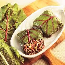 cuisiner des cardes feuilles de bettes à carde farcies aux chignons portobello metro