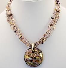 black necklace pendants images Murano glass black lavender gold pendant murano glass jewelry jpg