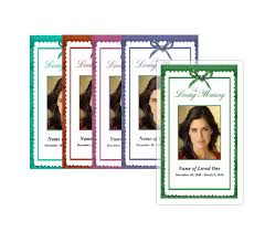 memorial service prayer cards professional printing services