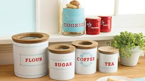 martha stewart kitchen canisters stenciled kitchen storage containers