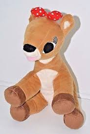 rudolph red nosed reindeer clarice stuffed animal plush