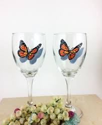 wine glass painting butterfly wine glass painted wine glasses butterfly home decor
