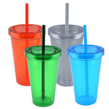 plastic cups with lids bulk wall plastic tumblers with straws 16 oz at
