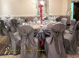 gray chair covers chicago chair covers for rental in mist silver in the lamour satin