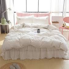 Girls Bed Skirt by Online Get Cheap Full White Bed Skirt Aliexpress Com Alibaba Group