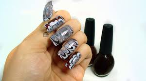 chocolate swirl water marble nail art a sparkly life for me