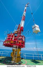 Pedestal Crane Crane Control Cabin Pedestal Crane Winch Stock Photo 723002917