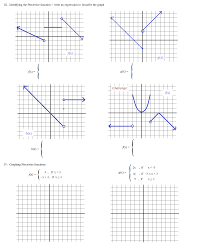 Graphing Polynomial Functions Worksheet Math Plane Piecewise Functions U0026 F X Notation