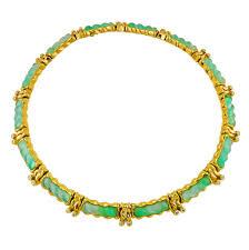 collar diamond necklace images Chrysoprase and diamond collar necklace kaufmann de suisse jpg