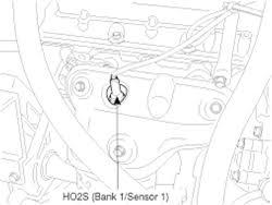 hyundai accent oxygen sensor repair guides component locations heated oxygen sensor