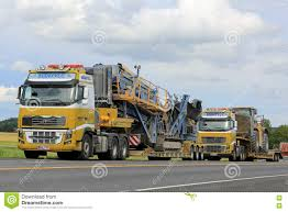 volvo heavy two volvo fh16 semi trucks heavy equipment haul editorial photo