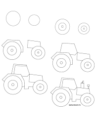 drawing tractor