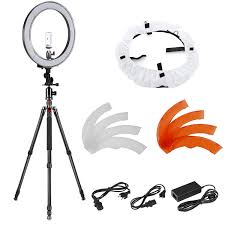 neewer led ring light neewer 18 inch outer led ring light and carbon fiber tripod lighting