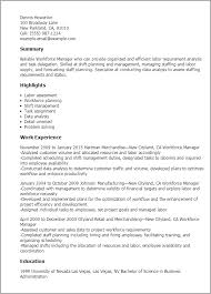 Shift Manager Job Description Resume by Professional Workforce Manager Templates To Showcase Your Talent