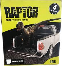 Bed Liner Spray Gun U Pol 4808 Raptor White Color Urethane Spray On Truck Bed Liner 4
