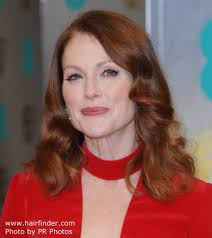 hair colors for 50 plus 50 plus julianne moore how to rock both red hair and a red outfit